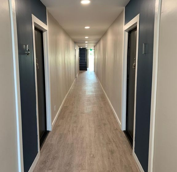 Hallway in Building for Federal Ave Apartments in Sawtelle, CA