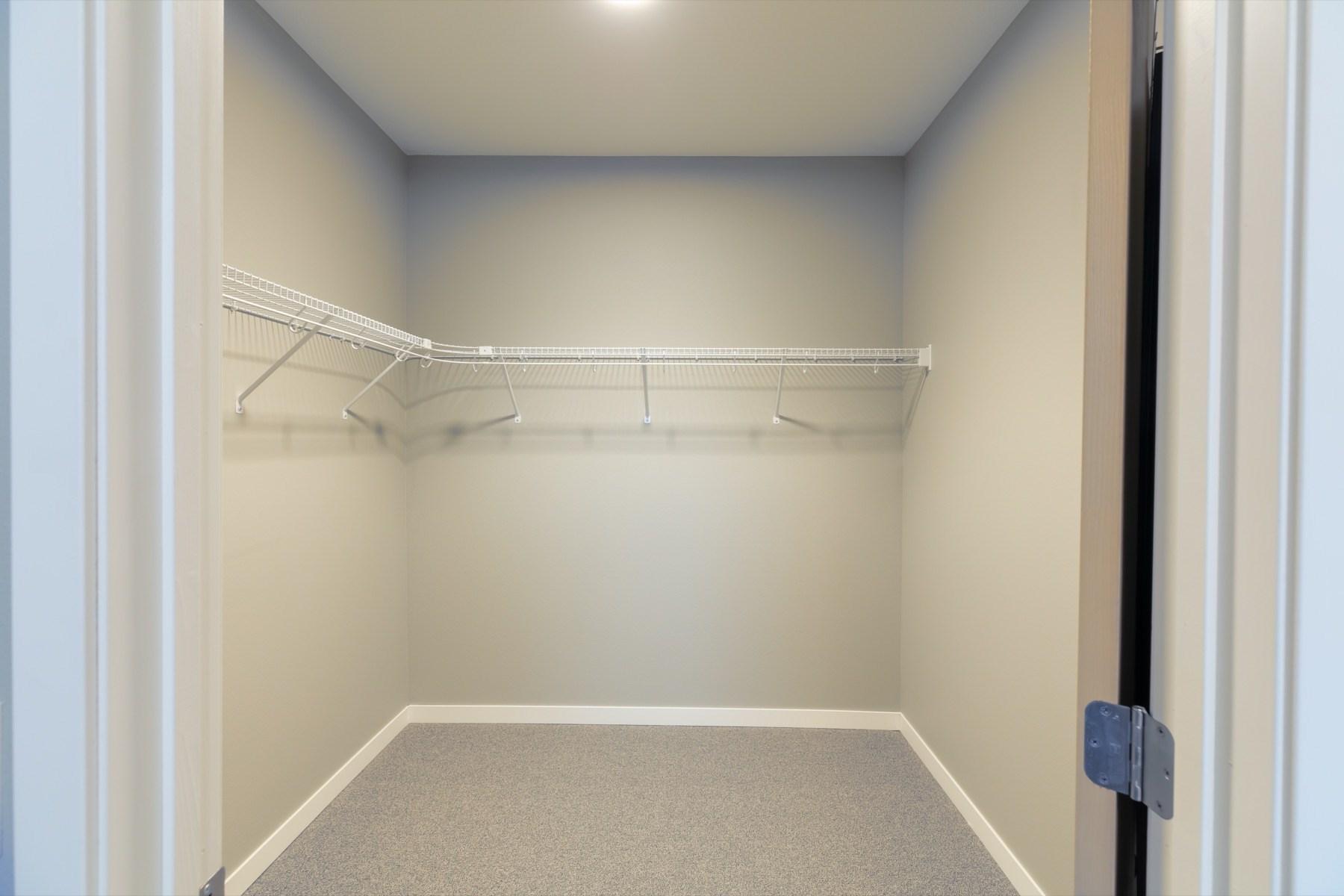 Enormous walk-in closets