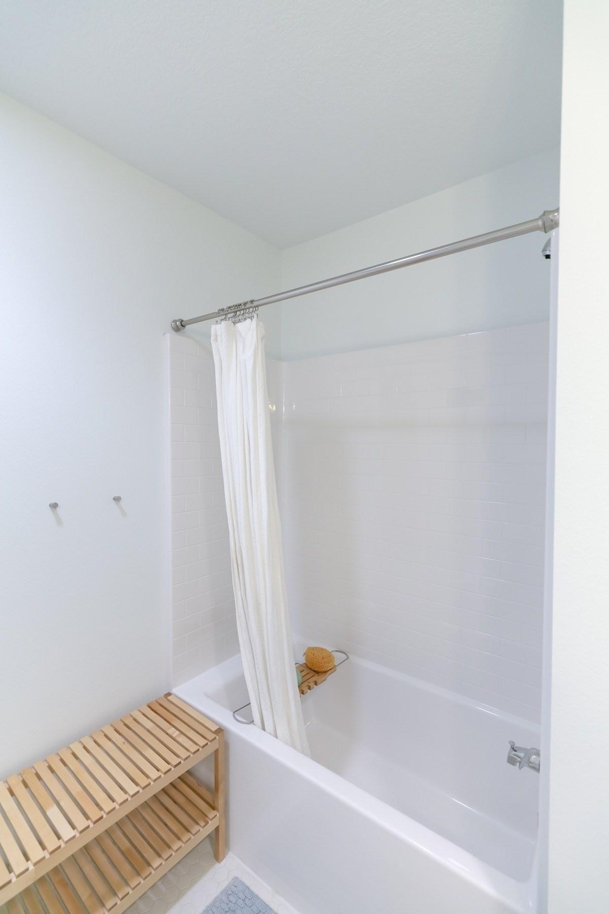 Deep tub-shower combo