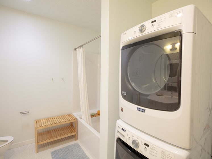 Convenient in-home laundry