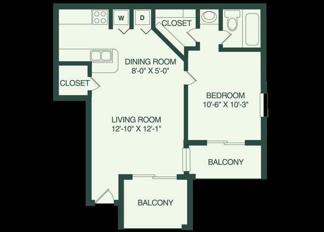 The Kissimmee A1 Floor Plan 1