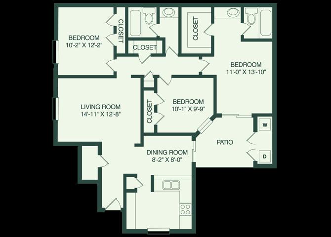 The Miami  C1 Floor Plan 7