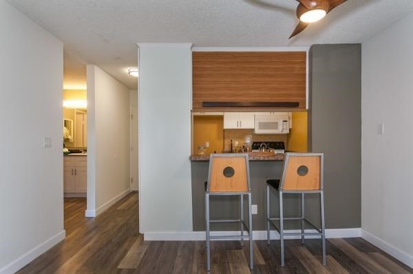 kitchen nook with barstool chairs