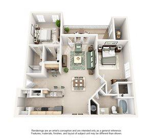 2 Bedroom (1097 sf)