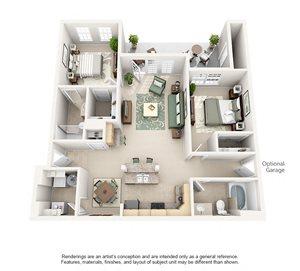 2 Bedroom (1152 sf)