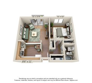 1 Bedroom (Large)