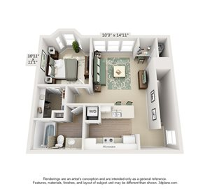 1 Bedroom Luxury with Garage