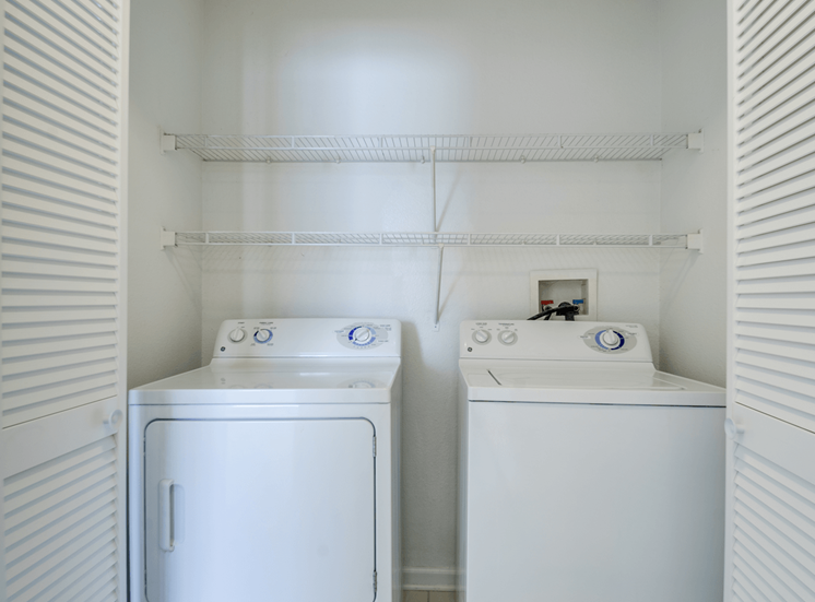 Full Sized Washer and Dryer at Crestview Apartments, Fredericksburg, VA, 22401