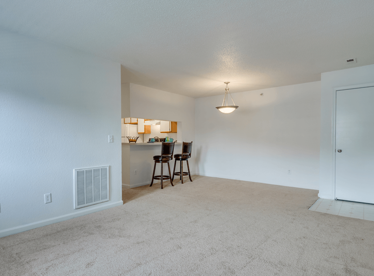 Carpeted Open Floor Plan at Crestview Apartments, Virginia, 22401