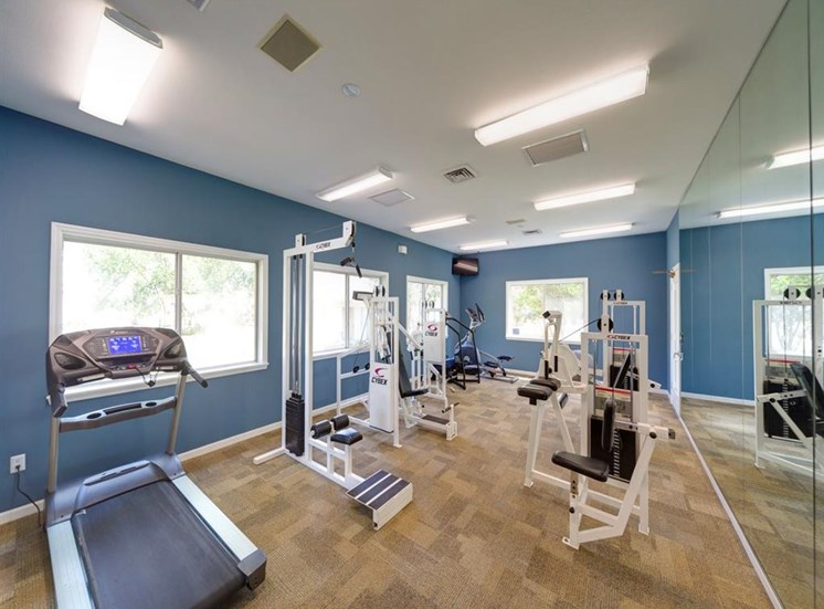 Fitness Center with Exercise Equipment at Holly Cove Apartments, Orange Park, FL