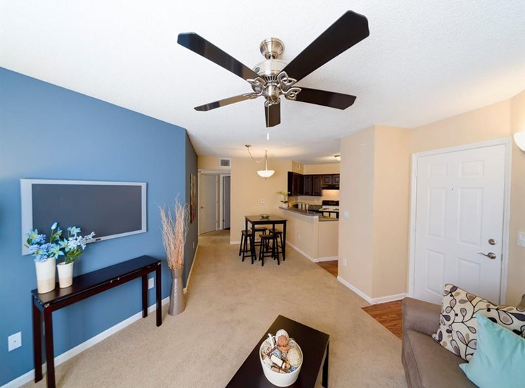 Living Room With Television at Holly Cove Apartments, Florida, 32073