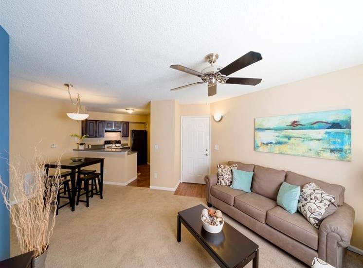 Living Cum Dining And Kitchen Area View at Holly Cove Apartments, Florida