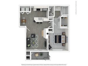 1 Bed - 1 Bath |766 sq.ft. 1X1R