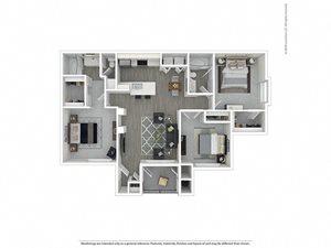 3 Bed - 2 Bath |1,199 sq.ft. 3X2