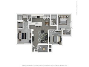 3 Bed - 2 Bath |1,199 sq.ft. 3X2R
