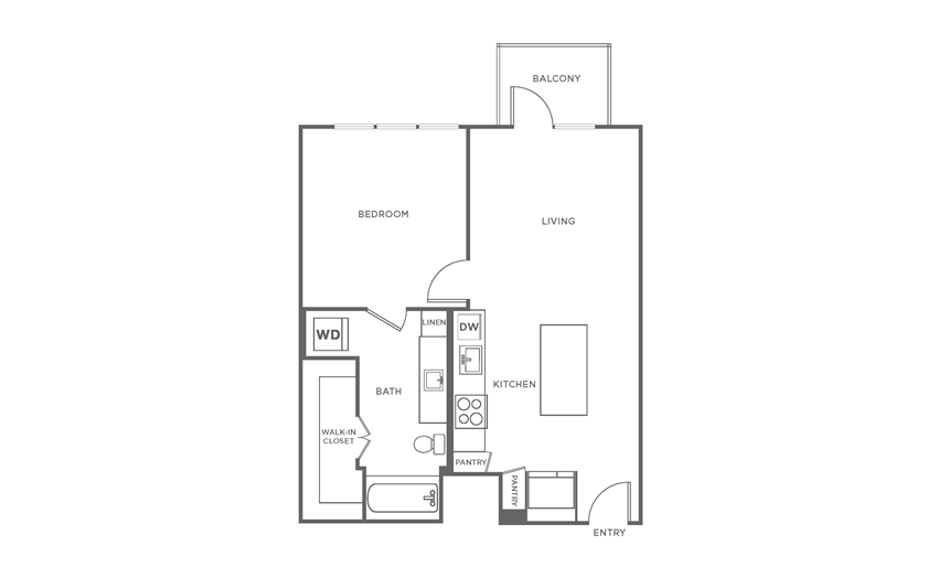 Floorplan showing the A1 floorplan for The Margo