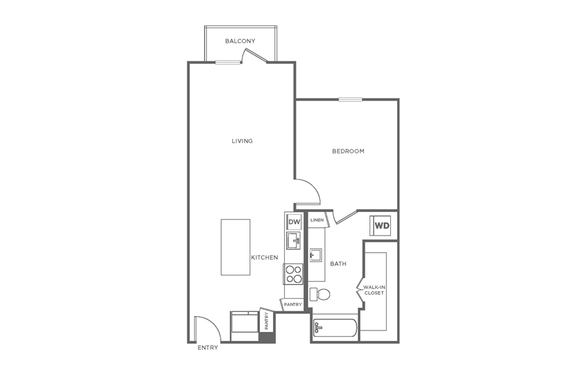 Floorplan showing the A3 floorplan for The Margo
