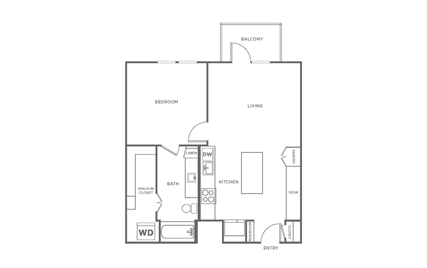 Floorplan showing the A5 floorplan for The Margo