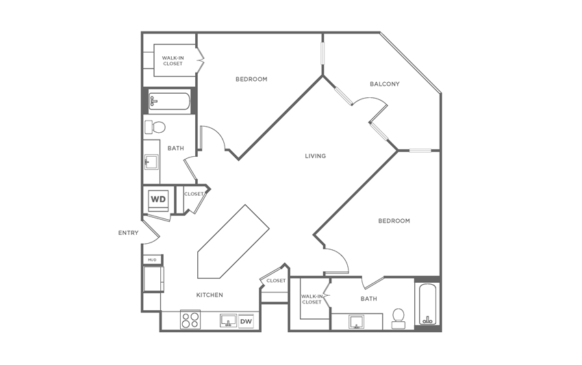 Floorplan showing the B3 floorplan  for The Margo