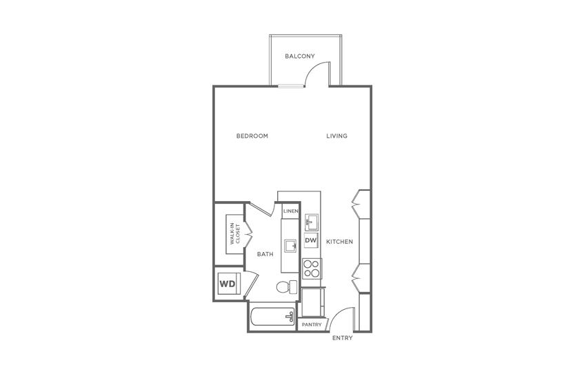 Floorplan showing the S1 floorplan for The Margo
