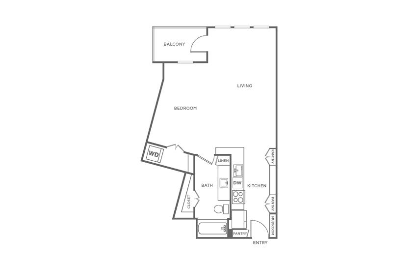 Floorplan showing the S2 floorplan for The Margo