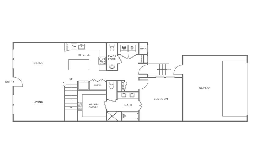 Floorplan showing the TH1 floorplan for The Margo