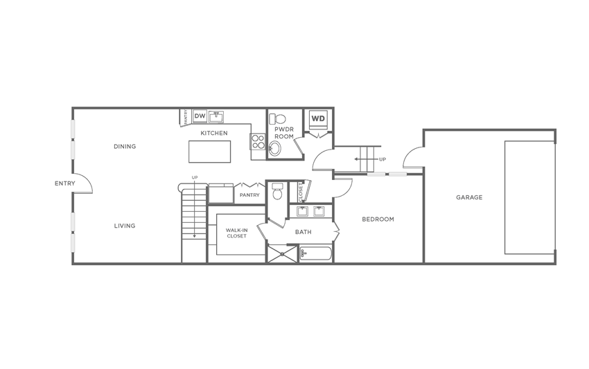 Floorplan showing the TH3 floorplan for The Margo