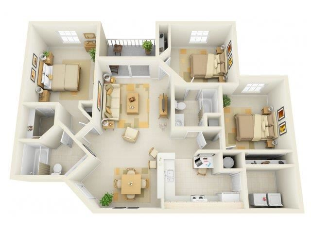 Vento C1 Floor Plan |Bay Breeze Villas