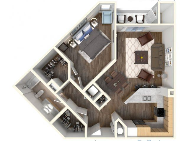 A-3 810 Floor Plan |Faxon Woods