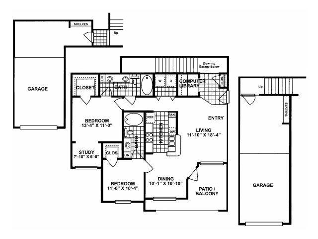 2X2G Floor Plan| Lodges at Lakeline Village