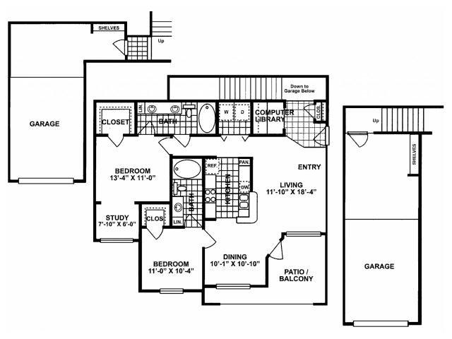 2X2G-SILVERPACKAGE Floor Plan| Lodges at Lakeline Village