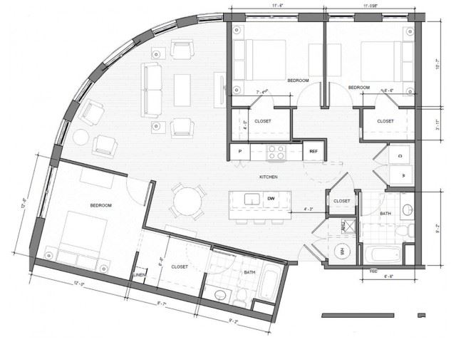 3BR-A1 Floor Plan| Merc