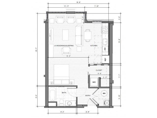 Studio A Floor Plan| Merc
