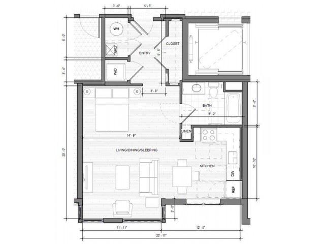 Studio B Floor Plan| Merc