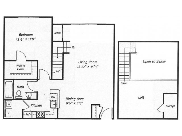1Bed1Bath_1037 Floor Plan  Residences at Westborough