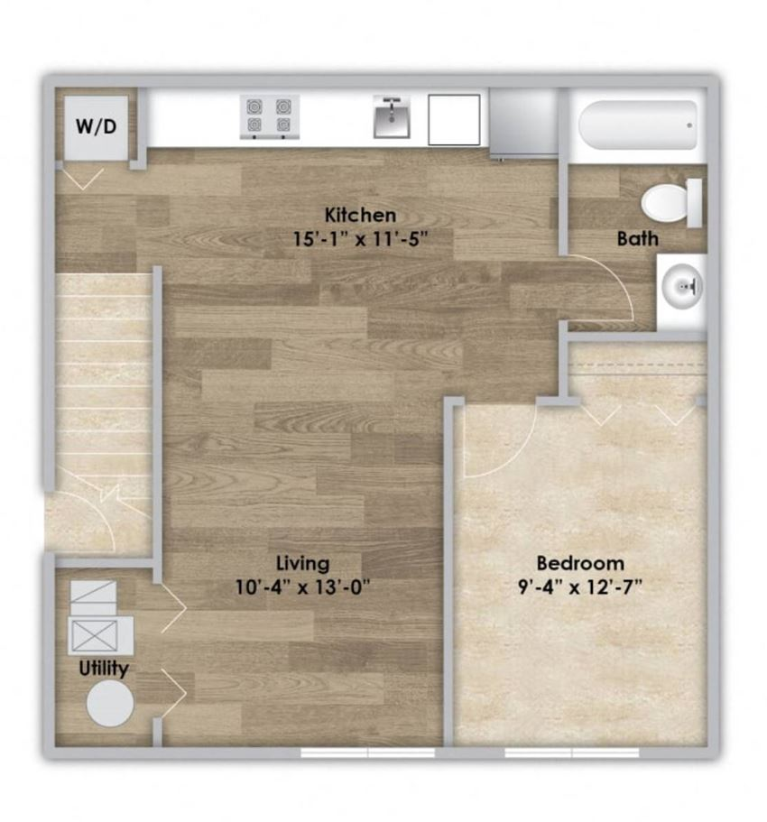 1 Bedroom - Second Floor Style 103