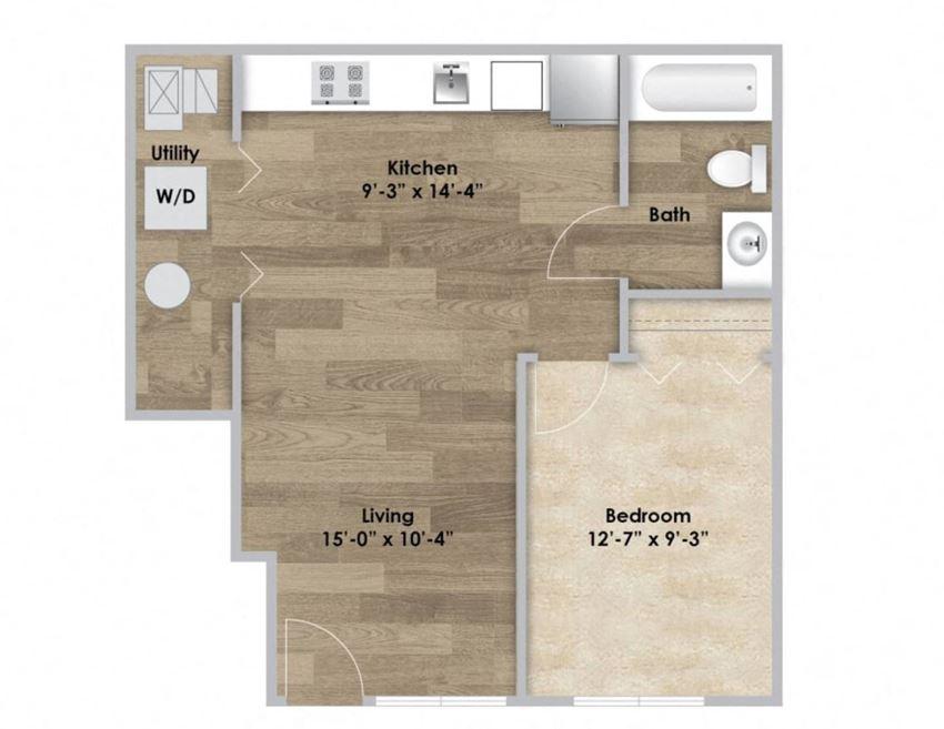 1 Bedroom - First Floor Style 101