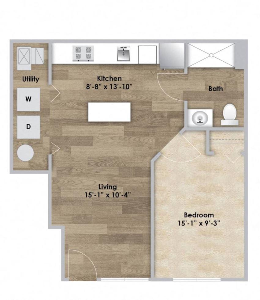 1 Bedroom - First Floor - ADA Modified Style 105