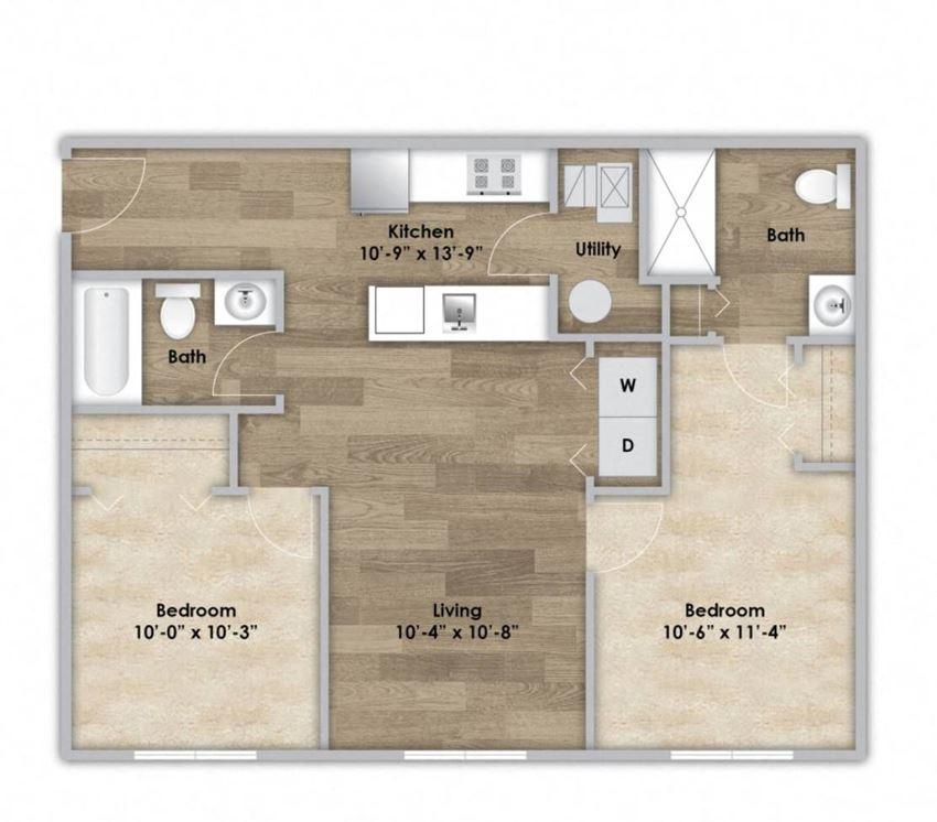 2 Bedroom - First Floor Style 205