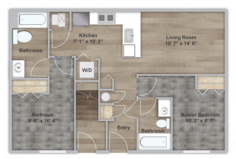 Two Bedroom - First Floor