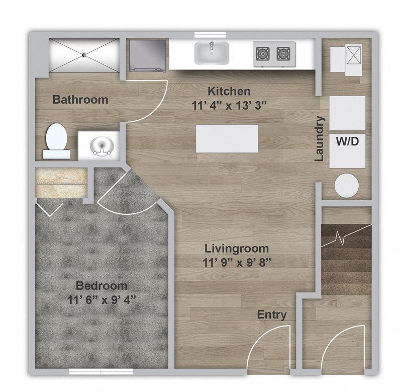 One Bedroom - First Floor - ADA Modified