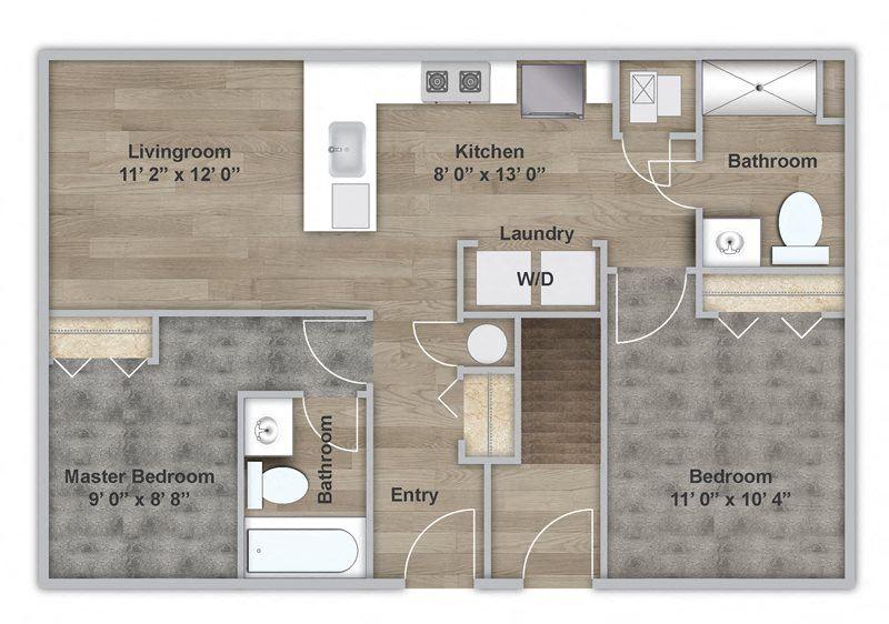 Two Bedroom - First Floor - ADA Modified