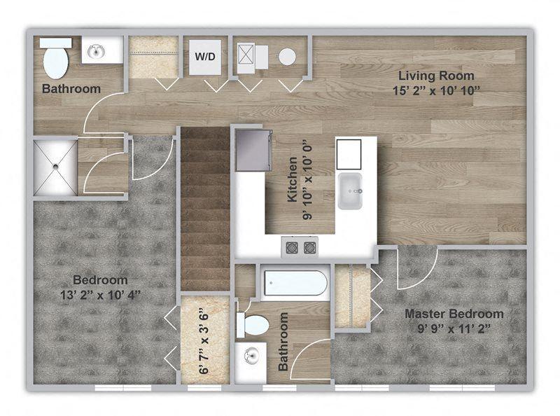 Two Bedroom - Second Floor