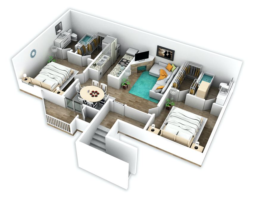 Two-Bedroom, Two-Bath Apartment