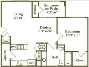 One Bed/ One Bath