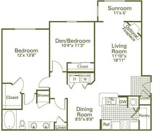 Two Bed/One Bath