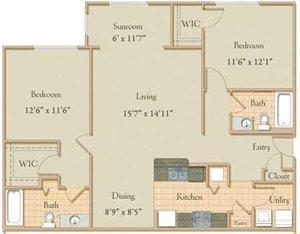 Two Bedroom Split