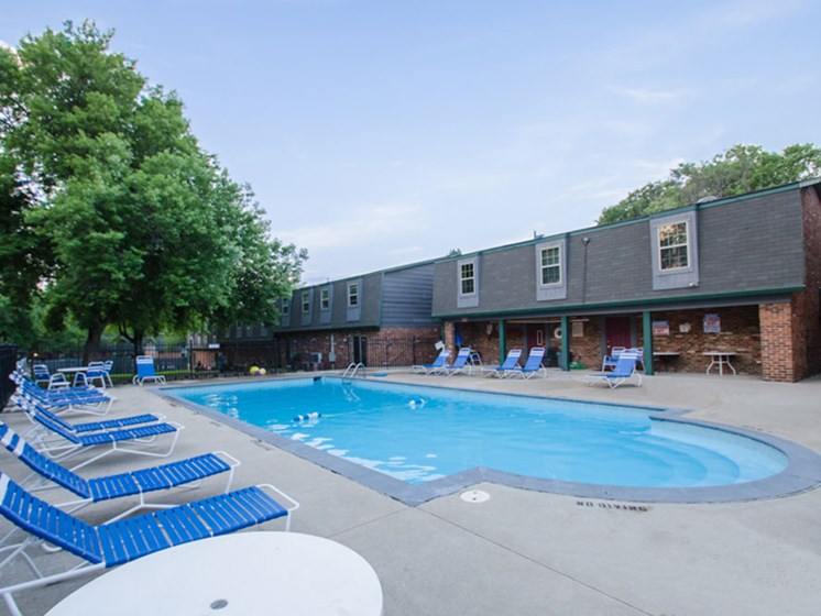 Community pool Heritage Knoll Apartments in Kettering, OH