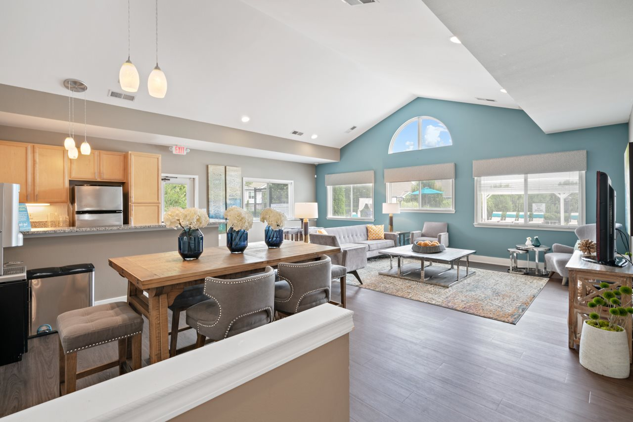 Residential Clubhouse and Leasing Office Interior at Hawthorne at the Peak