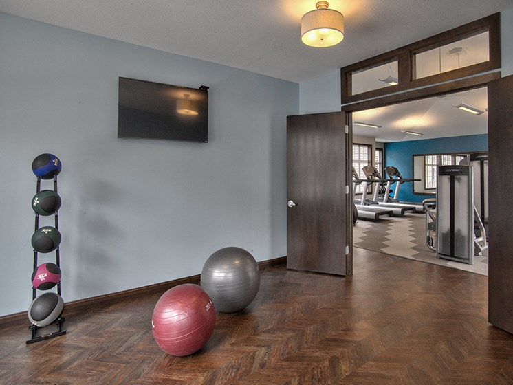 Group Fitness Room at Lake Susan Apartments in Chanhassen, MN